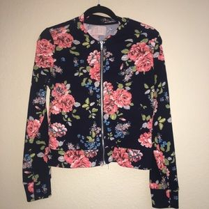 Love tree flower print sweater